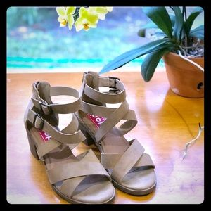 Tan Strappy Sandals, 8.5